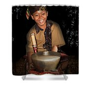 Gamelan Shower Curtain