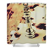 Games And Puzzles Shower Curtain