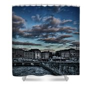 Stockholm In Dark Shower Curtain