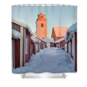 Gammelstad Lulea - Sweden Shower Curtain