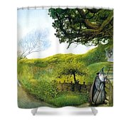 Gandalf Houses Tolkien The Magician Shower Curtain