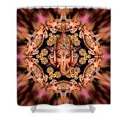 Ganesh Sphere Mandala Shower Curtain