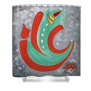 Ganesha Symbolic Shower Curtain