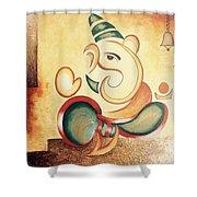 Ganesha's Blessing Shower Curtain