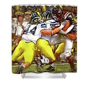 Gang Of Wolverines Shower Curtain