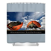 Gangster Ladybugs Nature Gone Mad Shower Curtain