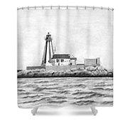 Gannet Rock Lighthouse Shower Curtain