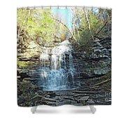 Ganoga Falls 3 - Ricketts Glen Shower Curtain