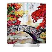 Gapstow Bridge I Shower Curtain