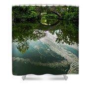 Gapstow Bridge In Central Park Shower Curtain