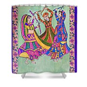 Garba Dance Shower Curtain