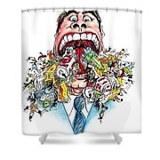 Garbage Mouth Shower Curtain