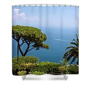 Garden And Bay Of Naples Shower Curtain