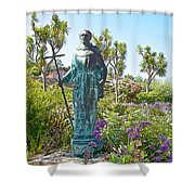 Garden At Carmel Mission-california Shower Curtain
