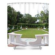 Garden At Crane Cottage Shower Curtain