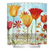 Garden Beauty-jp2960b Shower Curtain