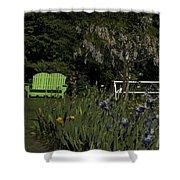 Garden Bench Green Shower Curtain
