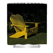 Garden Bench Yellow Shower Curtain