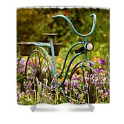 Garden Bicycle II Shower Curtain
