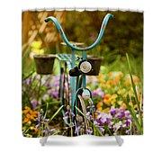 Garden Bicycle Shower Curtain