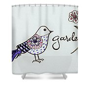 Garden Bird Shower Curtain