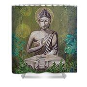 Garden Buddha Shower Curtain