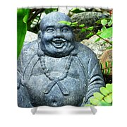 Garden Buddha  Shower Curtain