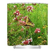 Garden Butterfly Shower Curtain