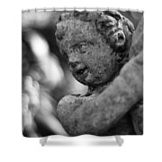 Garden Cherub Shower Curtain