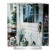 Garden Chores Shower Curtain by Hanne Lore Koehler