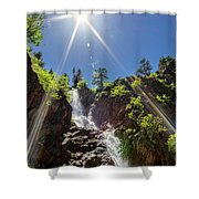 Garden Creek Falls Shower Curtain