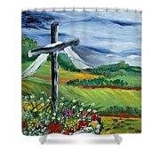 Garden Cross Shower Curtain