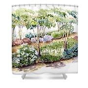 Garden, Dark Side Shower Curtain