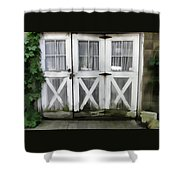 Garden Doors Shower Curtain