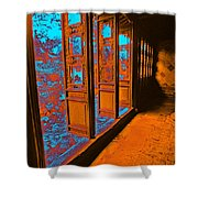 Garden Doorway Shower Curtain