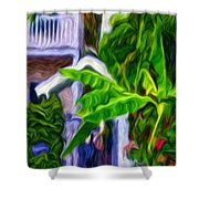 Garden Entrance Shower Curtain
