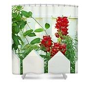 Garden Fence - Key West Shower Curtain