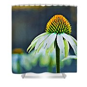 Bristle Flower Shower Curtain
