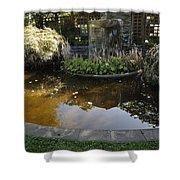 Garden Fountain Pond Shower Curtain