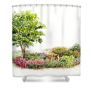 Garden Fresh Watercolor Painting Shower Curtain
