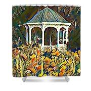 Garden Gazebo Watercolor Shower Curtain