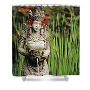 Garden In Bali Shower Curtain