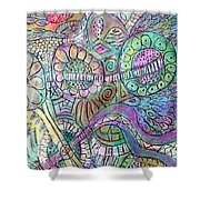 Garden In The Sky Shower Curtain