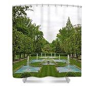 Italian Fountains Of The Garden Shower Curtain
