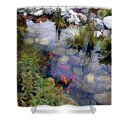 Garden Koi Pond Shower Curtain