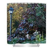 Garden Lamp Post Shower Curtain