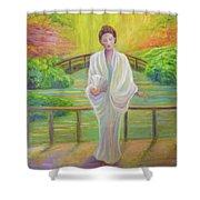 Garden Meditation Shower Curtain