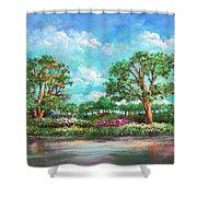 Summer In The Garden Of Eden Shower Curtain