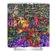 Garden Of Forgiveness Shower Curtain by Kurt Van Wagner