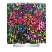 Garden Of Happiness  Shower Curtain